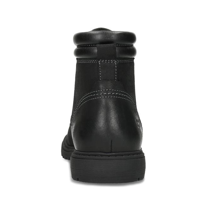 Černá kožená kotníčková obuv s prošitím weinbrenner, černá, 896-6693 - 15