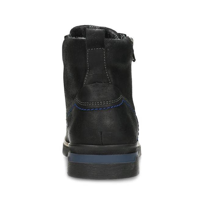 Černá pánská kožená kotníčková obuv bata, černá, 896-6601 - 15