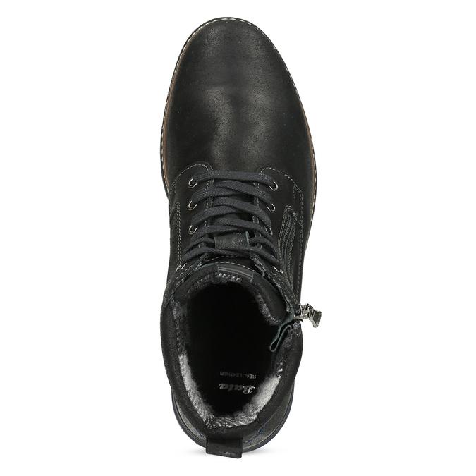 Černá pánská kožená kotníčková obuv bata, černá, 896-6601 - 17
