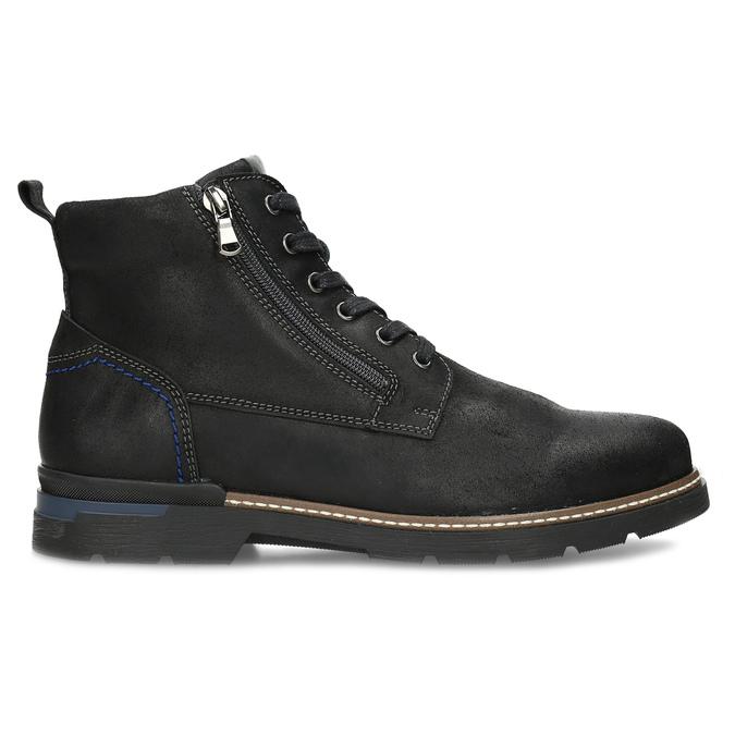 Černá pánská kožená kotníčková obuv bata, černá, 896-6601 - 19