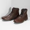 Pánská kožená kotníčková obuv bata, hnědá, 896-4745 - 16