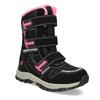 Dětská černá zimní obuv s růžovými detaily mini-b, černá, 491-6668 - 13