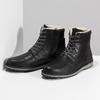 Pánská černá kožená zimní obuv bata, černá, 896-6746 - 16