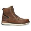 Hnědá pánská kožená zimní obuv bata, hnědá, 896-3746 - 19