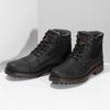 Černá pánská kožená kotníčková obuv bata, černá, 896-6747 - 16