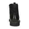 Pánská černá kožená kotníčková obuv bata, černá, 896-6752 - 15