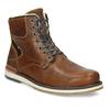 Hnědá pánská kožená zimní obuv bata, hnědá, 896-3746 - 13