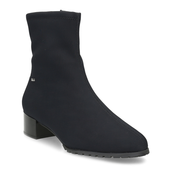 Dámské černé ponožkové kotníčkové kozačky hogl, černá, 699-6102 - 13