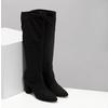 Černé kozačky na stabilním podpatku bata, černá, 699-6606 - 26