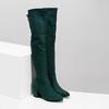 Dámské vysoké zelené kozačky se šňůrkami bata, zelená, 699-7609 - 26