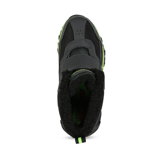 Černá dětská kotníčková zimní obuv skechers, černá, 399-6112 - 17