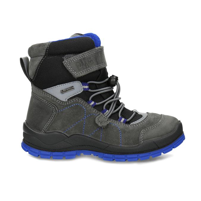 Šedá dětská zimní obuv s modrými detaily primigi, šedá, 293-2606 - 19