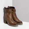 Hnědé kožené kozačky na stabilním podpatku bata, hnědá, 794-4618 - 26