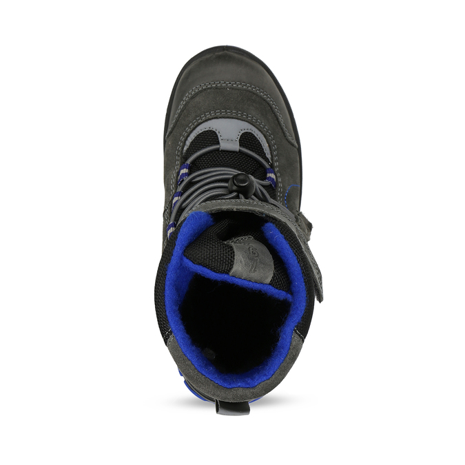 Šedá dětská zimní obuv s modrými detaily primigi, šedá, 293-2606 - 17