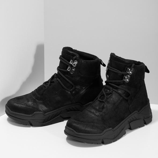 Kotníkové tenisky v městském stylu bata-light, černá, 691-6606 - 16