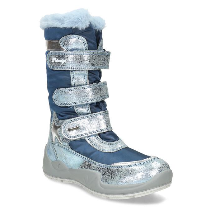 Modré dětské sněhule s metalickými detaily primigi, modrá, 499-9618 - 13