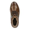 Pánská hnědá kotníčková zimní obuv bata-red-label, hnědá, 891-3610 - 17