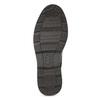 Pánská černá kotníčková obuv s prošitím bata-red-label, černá, 891-6610 - 18