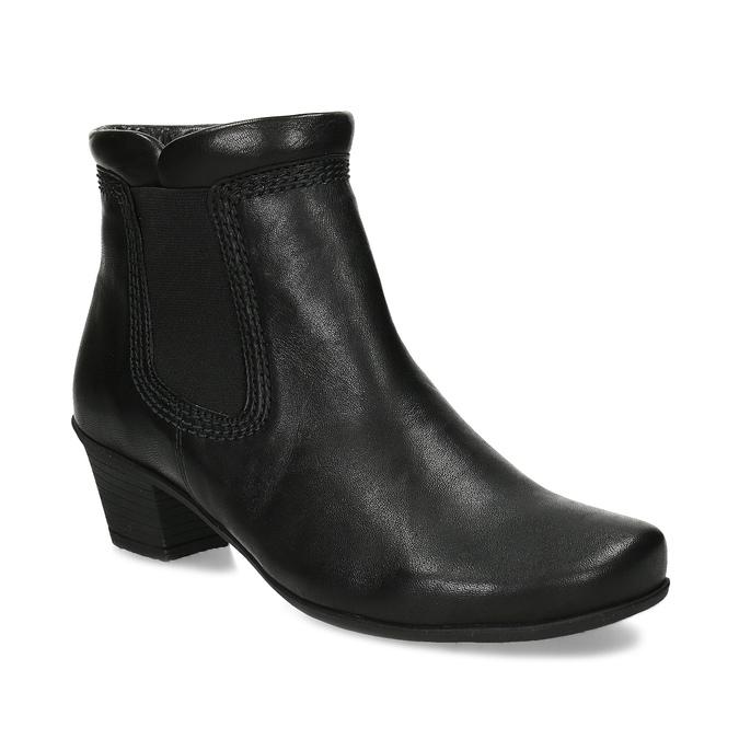 Černé dámské kotníčkové kozačky gabor, černá, 696-6102 - 13