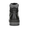 Pánská černá kotníčková obuv s prošitím bata-red-label, černá, 891-6606 - 15