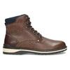Hnědá pánská kotníčková obuv s prošitím bata-red-label, hnědá, 891-4606 - 19