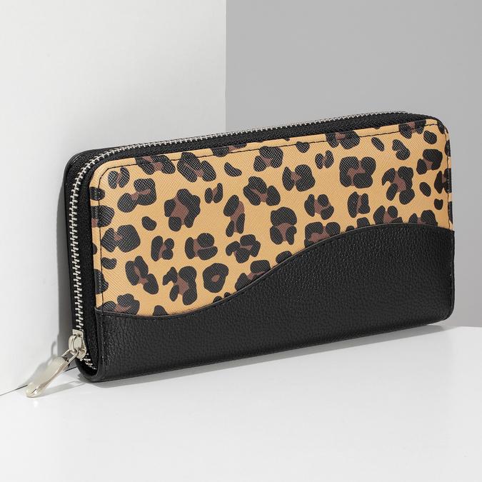 Černá dámská peněženka se vzorem bata, vícebarevné, 941-0622 - 17
