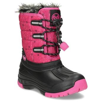 Růžové dětské sněhule se zateplením bubblegummers, růžová, 392-5601 - 13