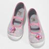 Šedé dětské přezůvky s růžovými detaily mini-b, šedá, 379-2603 - 16