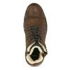 Kožená pánská kotníčková obuv se zateplením bata, hnědá, 896-4600 - 17