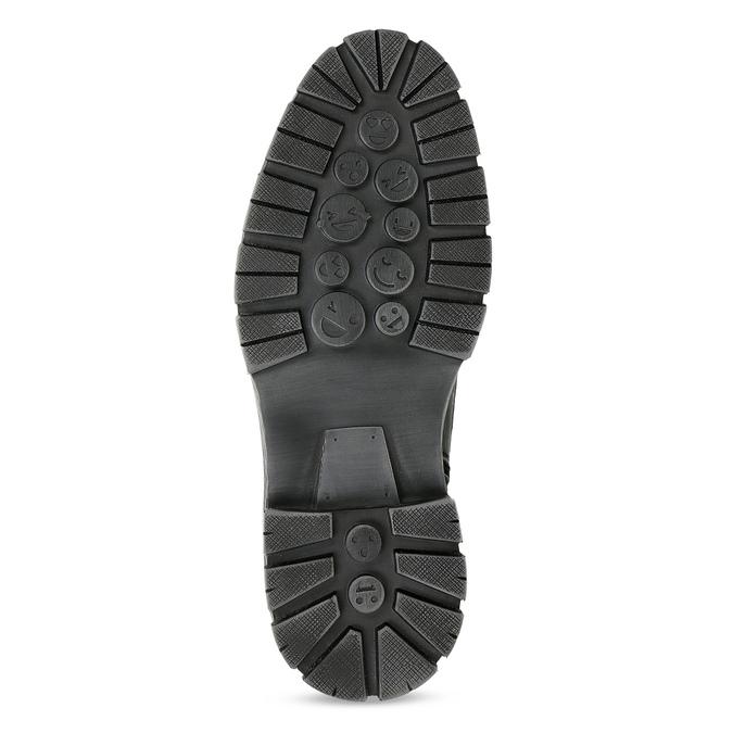 Kožená pánská kotníčková obuv s přezkou bata, černá, 896-6600 - 18