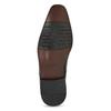 Pánské černé kožené Oxford polobotky bata, černá, 824-6671 - 18