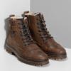 Kožená pánská kotníčková obuv se zateplením bata, hnědá, 896-4600 - 26