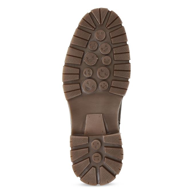 Kožená pánská kotníčková obuv se zateplením bata, hnědá, 896-4600 - 18