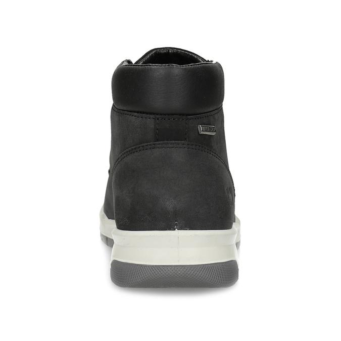 Černá pánská kotníčková obuv z broušené kůže weinbrenner, černá, 896-6396 - 15