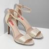 Zlaté sandály na jehlovém podpatku bata-red-label, zlatá, 721-8621 - 26