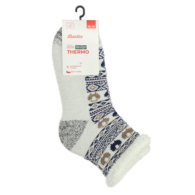 Dámské termo ponožky se vzorem matex, béžová, 919-9617 - 13