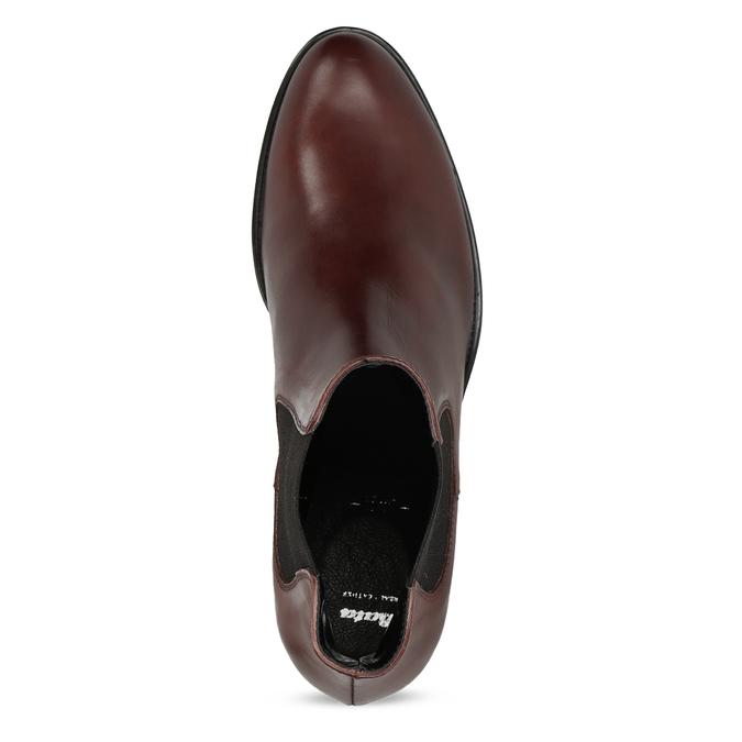 Kožená bordó dámská obuv v Chelsea stylu bata, 594-4447 - 17
