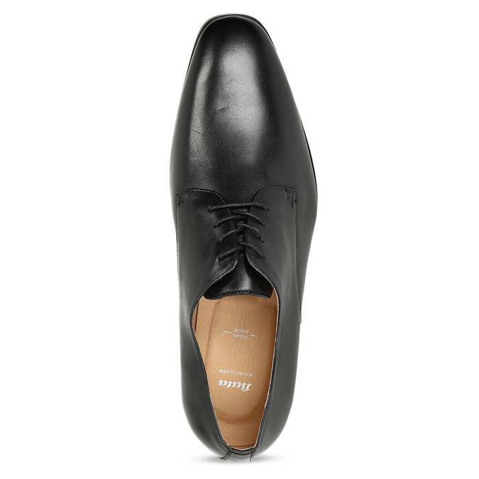Černé pánské kožené Derby polobotky bata, černá, 824-6629 - 17