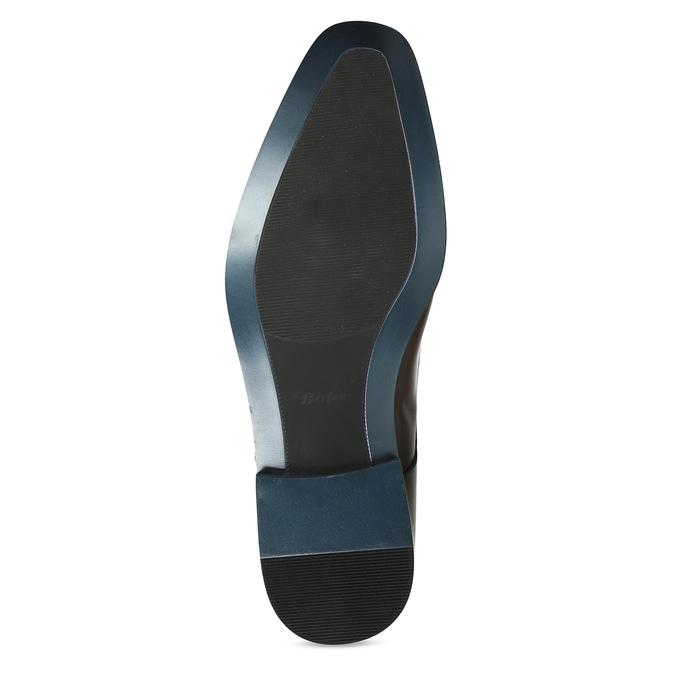 Černé pánské kožené Derby polobotky bata, černá, 824-6629 - 18