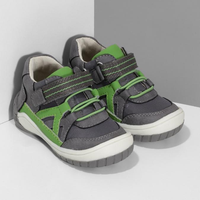 Šedá dětská kotníčková obuv bubblegummers, šedá, 111-2634 - 26