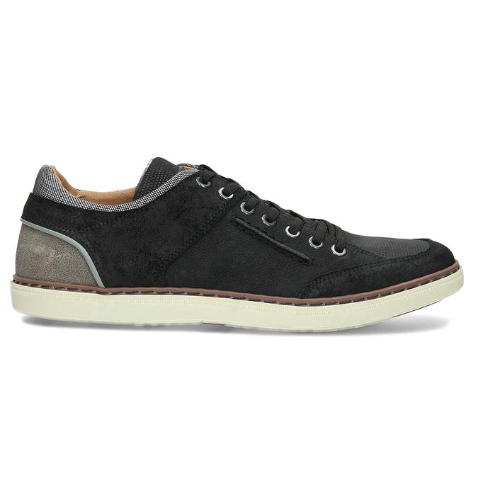 Černé pánské kožené ležérní tenisky bata, černá, 846-6606 - 19