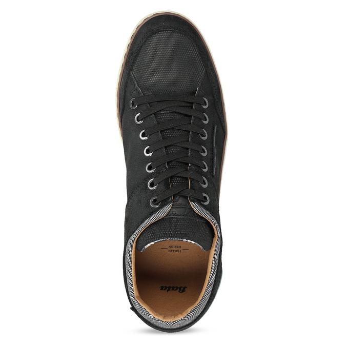 Černé pánské kožené ležérní tenisky bata, černá, 846-6606 - 17