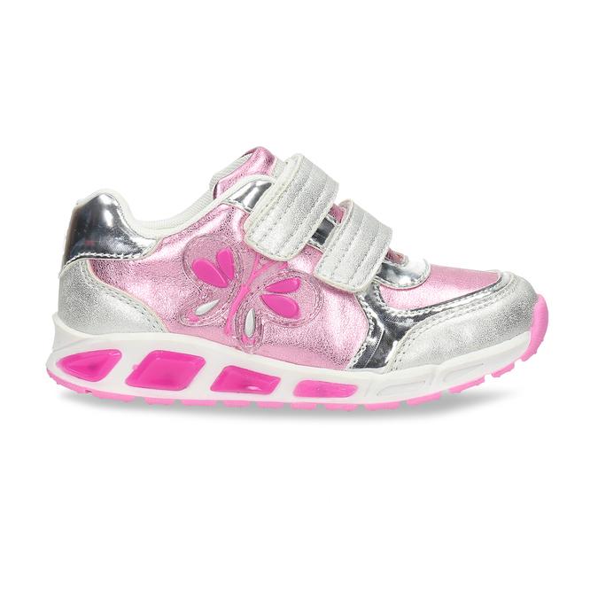 Růžové dětské tenisky se stříbrnými detaily mini-b, růžová, 221-5623 - 19