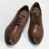Hnědé pánské kožené Derby polobotky bata, hnědá, 826-3619 - 16