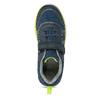 Tmavě modré tenisky s neonovým detailem mini-b, modrá, 419-9622 - 17