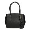 Černá dámská kabelka se strukturou bata-red-label, černá, 961-6600 - 26