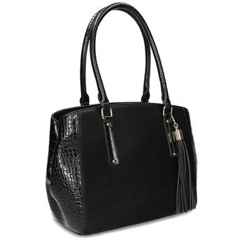 Černá dámská kabelka se strukturou bata-red-label, černá, 961-6600 - 13