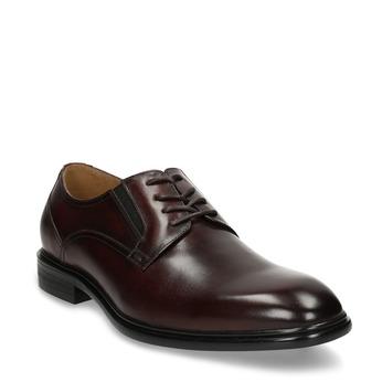 Pánské kožené polobotky ve stylu Derby bata, červená, 826-5665 - 13