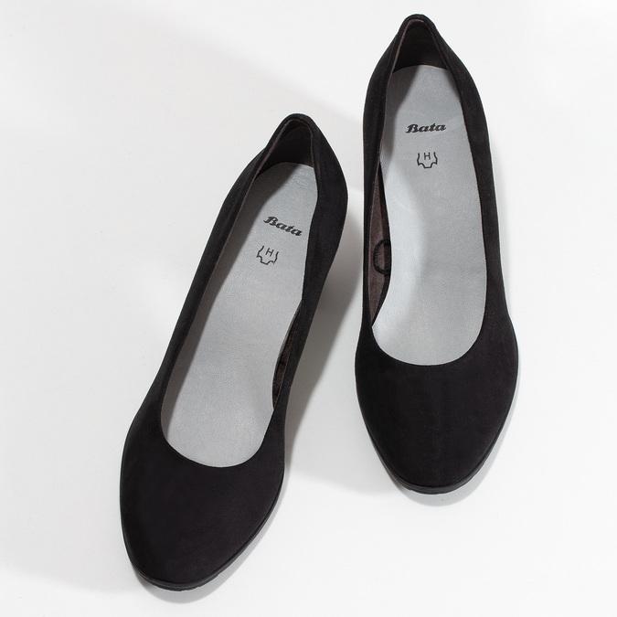 Dámské černé lodičky na stabilním podpatku bata, černá, 629-6603 - 16