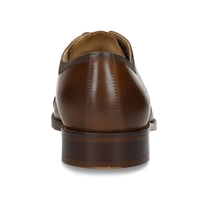 Pánské hnědé kožené polobotky v Derby stylu bata, hnědá, 826-3659 - 15